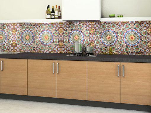 Zambala keuken achterwand – marokaanse tegels