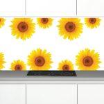 Zambala-keuken-achterwand-Zonnebloemen