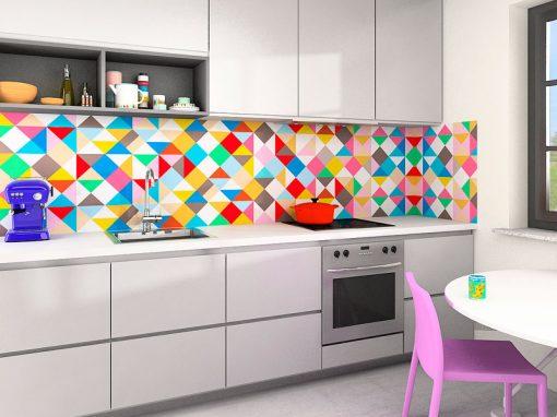 Zambala keuken achterwand – ruitpatroon