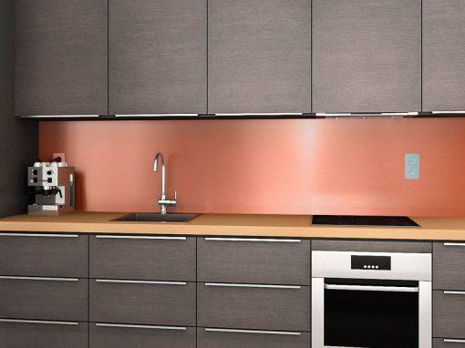 Zambala keuken achterwand – koper metallic