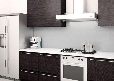 Zambala keuken achterwand in RVS -Inox