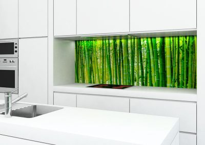 Zambala keuken achterwand met bamboemotief