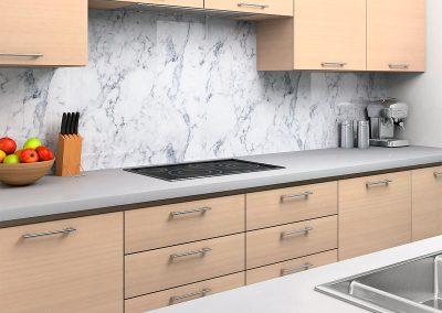 Zambala keuken achterwand met marmermotief