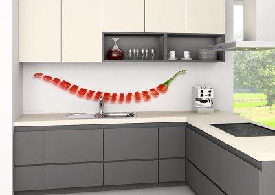 Zambala keuken achterwand met gesneden peper