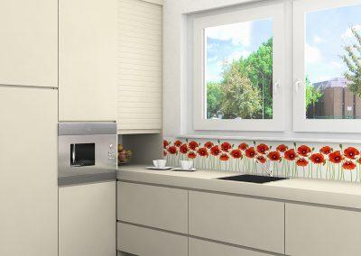 Zambala keuken spatwand met klaprozen