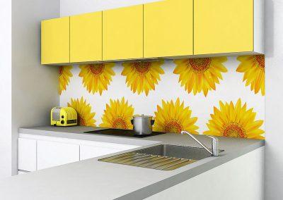 Zambala keukenachterwand met zonnebloemen