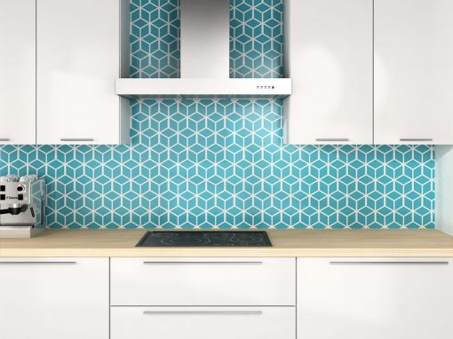 Zambala keuken achterwand – 3D kubus