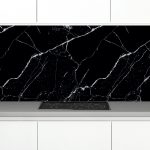 Zambala-keuken-achterwand-Marmer zwart